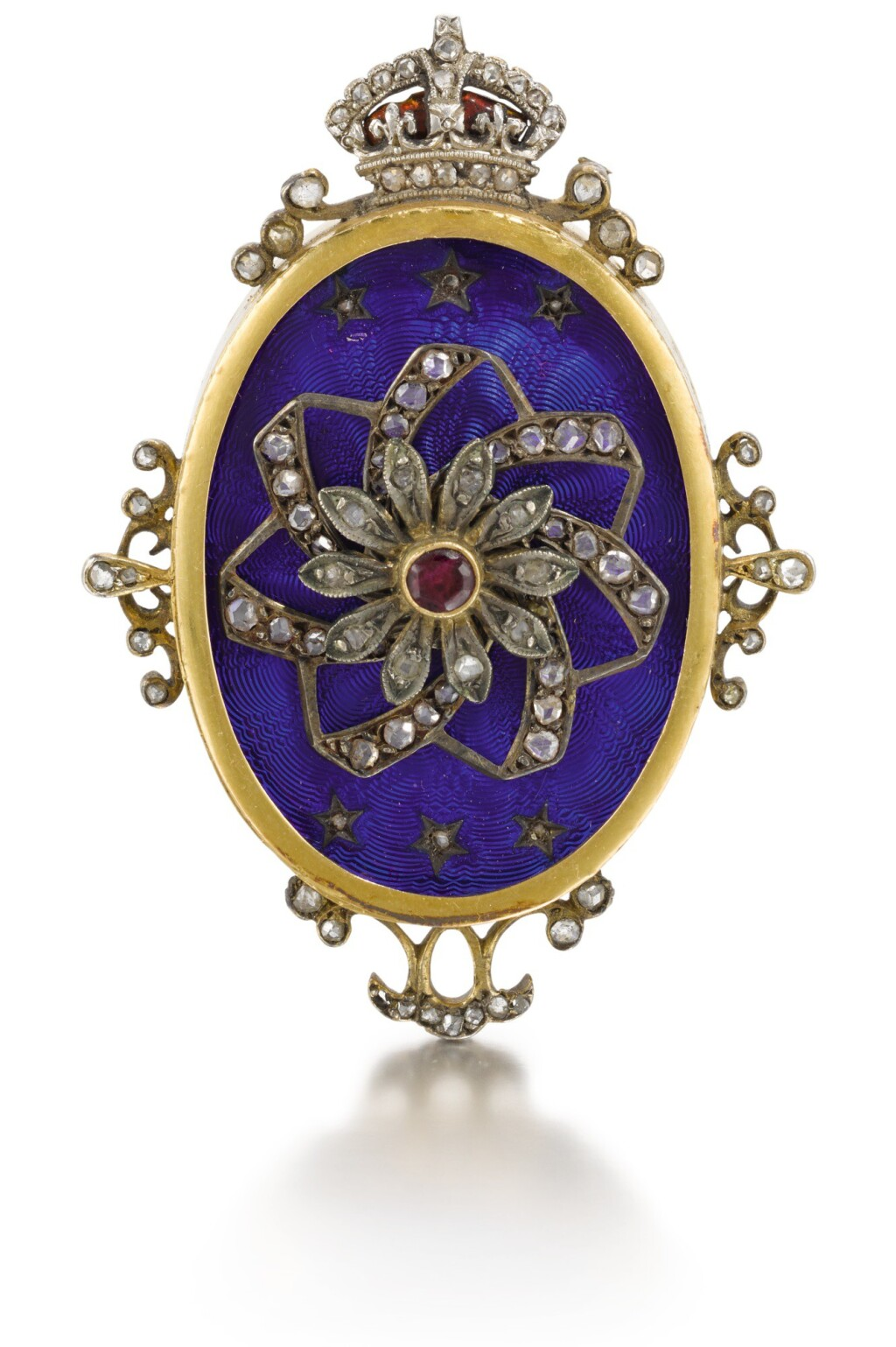 SWISS | A GOLD, ENAMEL, DIAMOND AND RUBY-SET AUTOMATON PENDANT MADE FOR THE CHINESE MARKET  CIRCA 1880