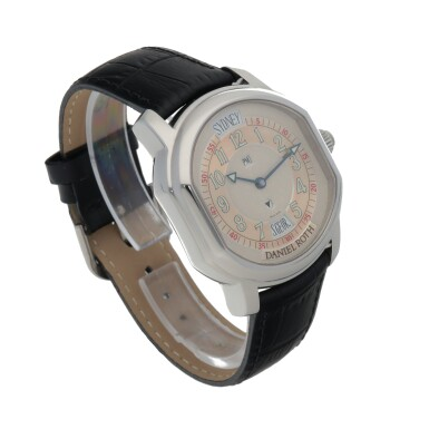 View 3. Thumbnail of Lot 667. DANIEL ROTH  | METROPOLITAN 24 CITIES, REF 857.ST   STAINLESS STEEL WORLD-TIME WRISTWATCH WITH 24-HOUR INDICATION   CIRCA 2005.