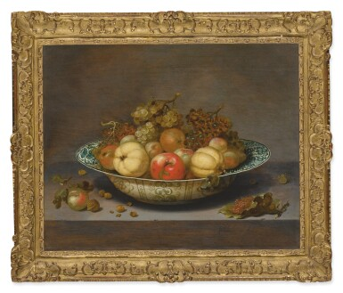 View 2. Thumbnail of Lot 567. JOHANNES BOUMAN | STILL LIFE OF FRUIT IN A KRAAK BOWL, ON A LEDGE.