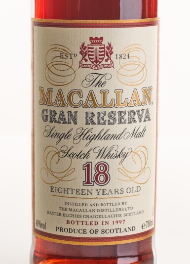 View 2. Thumbnail of Lot 4. THE MACALLAN GRAN RESERVA 18 YEARS OLD 1979.