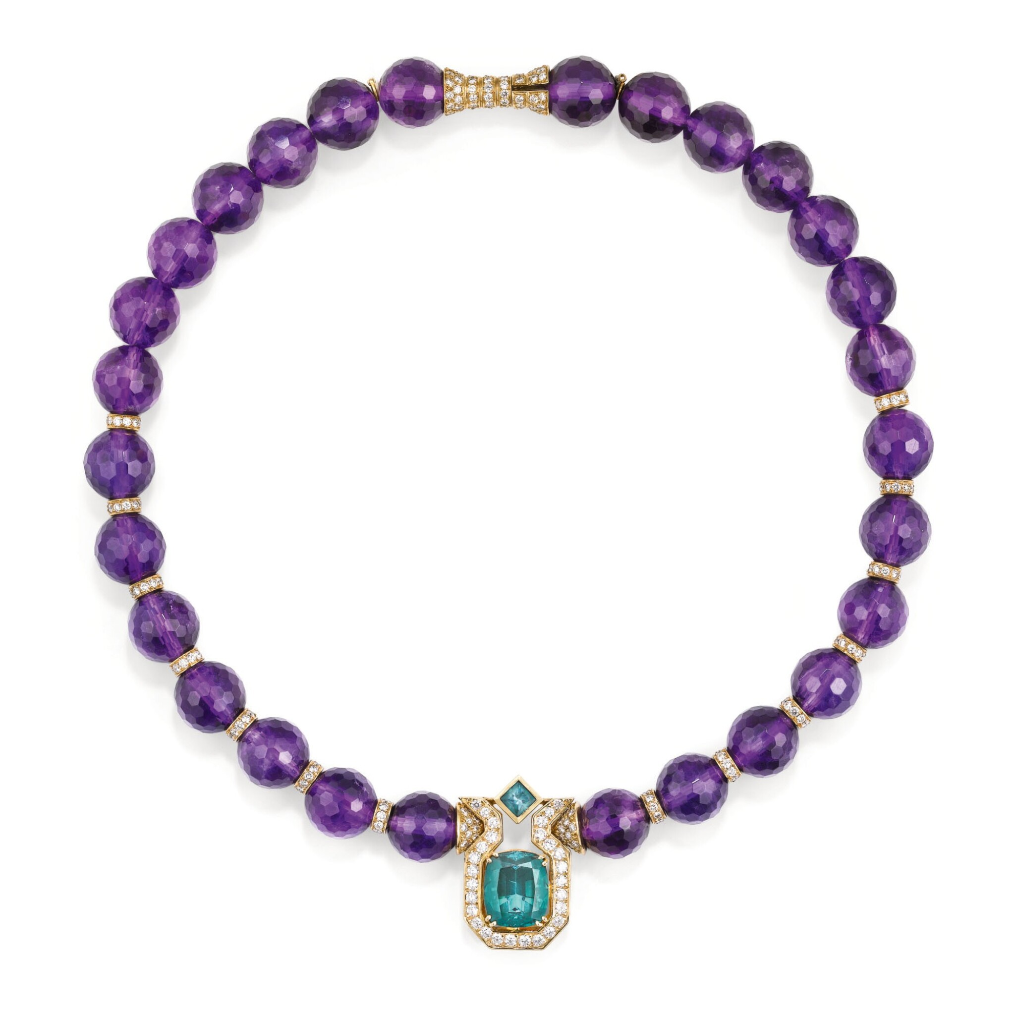 COLLIER AMETHYSTES, TOURMALINES ET DIAMANTS, MELLERIO, 1994 | AMETHYST, TOURMALINE AND DIAMOND NECKLACE, MELLERIO, 1994