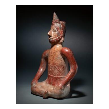 COLIMA SEATED FIGURE PROTOCLASSIC, CIRCA 100 BC-AD 250