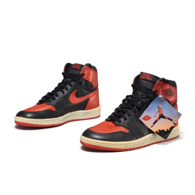 View 3. Thumbnail of Lot 7.  Peter Moore | 'Bred' Nike Air Jordan 1 High OG (1985) | Size 11.5.