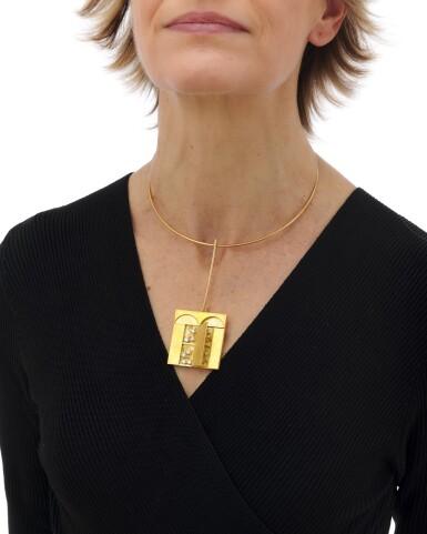 View 8. Thumbnail of Lot 124. Diamond necklace, Dimora (Collana con diamanti, Dimora).