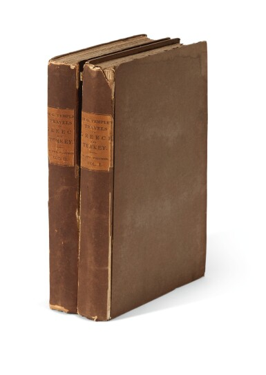 View 2. Thumbnail of Lot 208. Temple | Travels in Greece and Turkey, 1836, 2 volumes.
