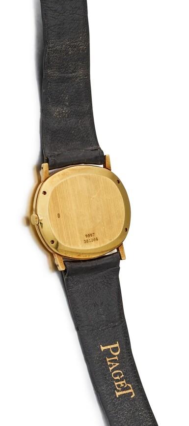 View 2. Thumbnail of Lot 8121. PIAGET | REFERENCE 9597 | A YELLOW GOLD WRISTWATCH, CIRCA 1970 | 伯爵 | 型號9597 黃金腕錶,約1970年製.