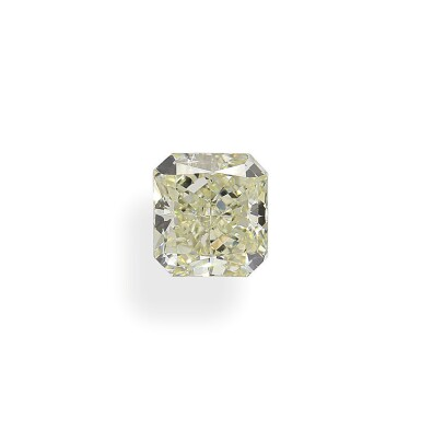 A 2.26 Carat Cut-Cornered Rectangular Modified Brilliant-Cut Diamond, Y-Z Color, VS2 Clarity