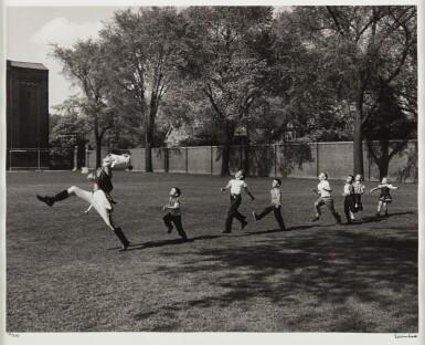 View 2. Thumbnail of Lot 1. Drum Major and Children, University of Michigan, Ann Arbor.