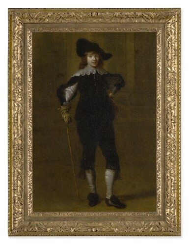 View 2. Thumbnail of Lot 534. ATTRIBUTED TO GODAERT KAMPER | PORTRAIT OF A GENTLEMAN, FULL LENGTH, IN A HAT AND HOLDING A SWORD.