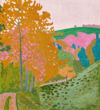 View 1. Thumbnail of Lot 31. CUNO AMIET  |  HERBSTLANDSCHAFT - HERBST AUF DER OSCHWAND, 1906.