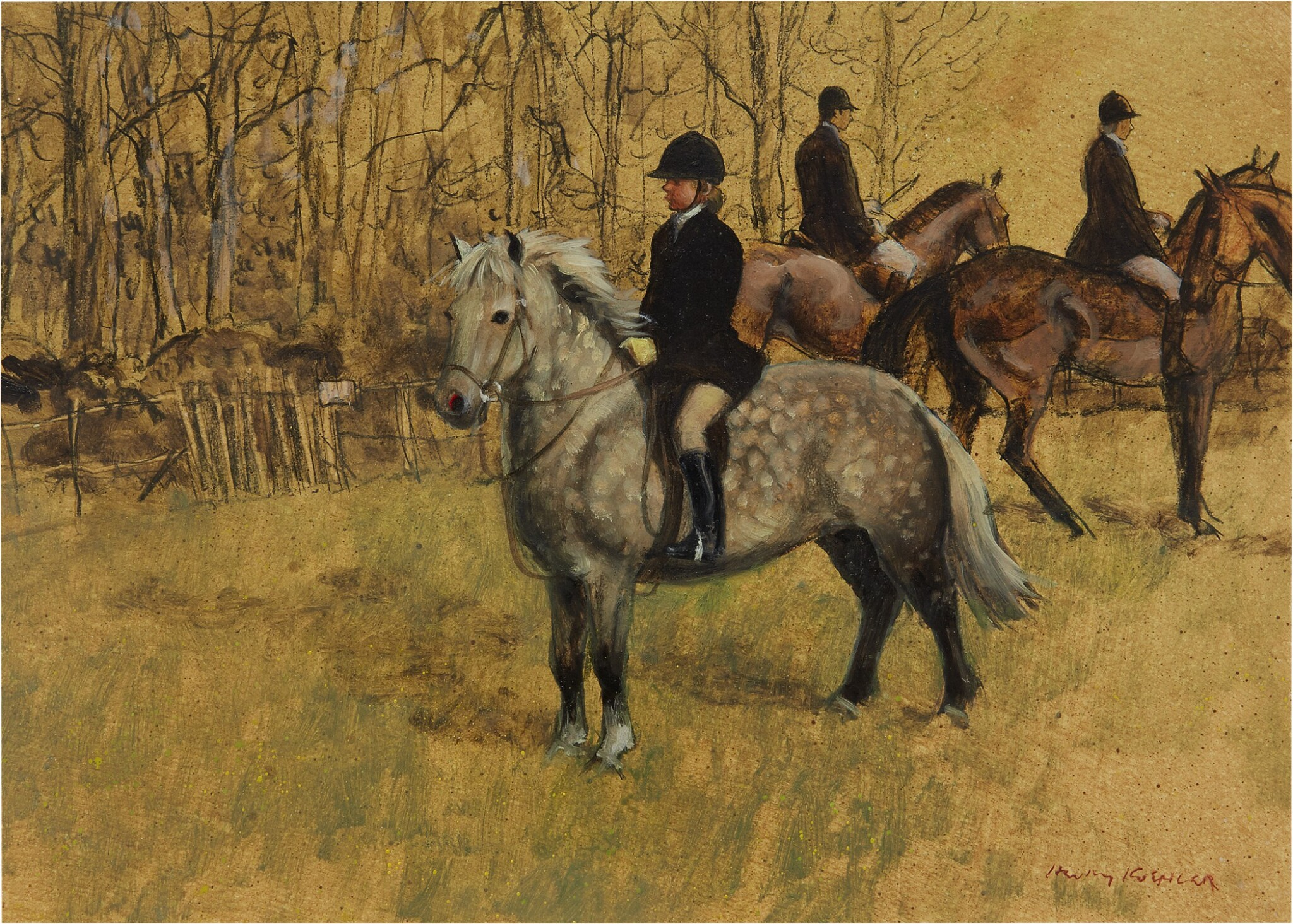 View full screen - View 1 of Lot 21. HENRY KOEHLER    THE HUNTING PONY.