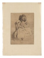 JAMES ABBOTT MCNEILL WHISTLER | ANNIE, SEATED (K. 30; G. 32)