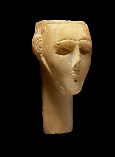 View 3. Thumbnail of Lot 73. An Alabaster Head of a Man, Southern Arabia, circa 2nd/1st Century B.C..