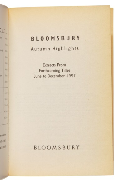 View 2. Thumbnail of Lot 273. [Rowling], Bloomsbury Autumn Highlights, 1997, first appearance of any Harry Potter text in print.