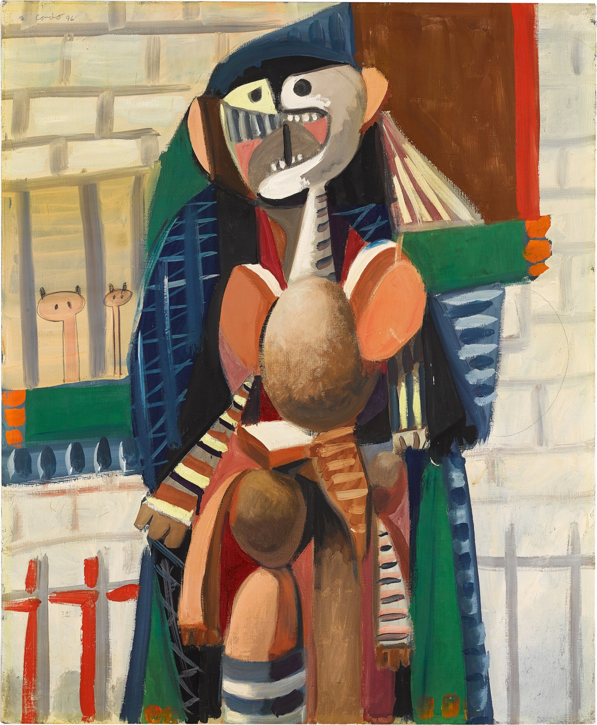 View full screen - View 1 of Lot 851. GEORGE CONDO | URBAN FIGURE COMPOSITION.