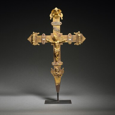 View 1. Thumbnail of Lot 41. Spanish, Burgos, late 14th/ early 15th century | Processional Cross.