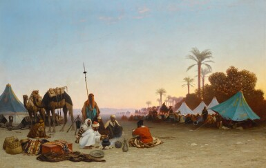 CHARLES THÉODORE FRÈRE   IN THE DESERT