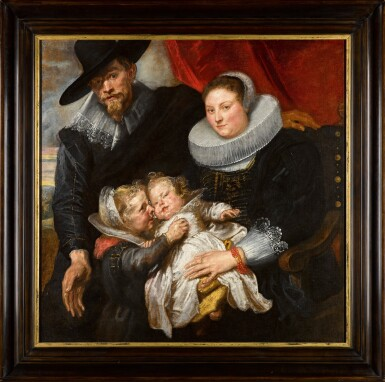 View 2. Thumbnail of Lot 14. Family portrait of the painter Cornelis de Vos and his wife Suzanna Cock and their two eldest children, Magdalena and Jan-Baptist   《畫家科尼利厄斯・德・沃斯、其妻蘇珊娜・考克與長子女馬格達萊納和揚・巴普蒂斯的全家福》.