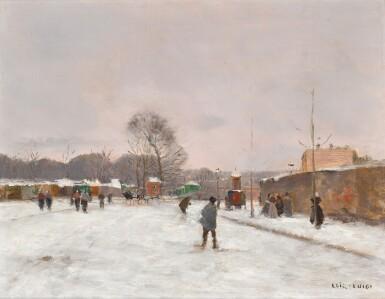 View 1. Thumbnail of Lot 166. La Première neige d'hiver.