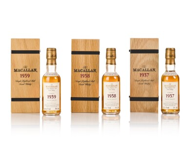 View 8. Thumbnail of Lot 20. The Macallan Fine & Rare Miniature Collection (38 bt).