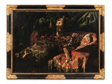 View 2. Thumbnail of Lot 33. Still life with a boar.