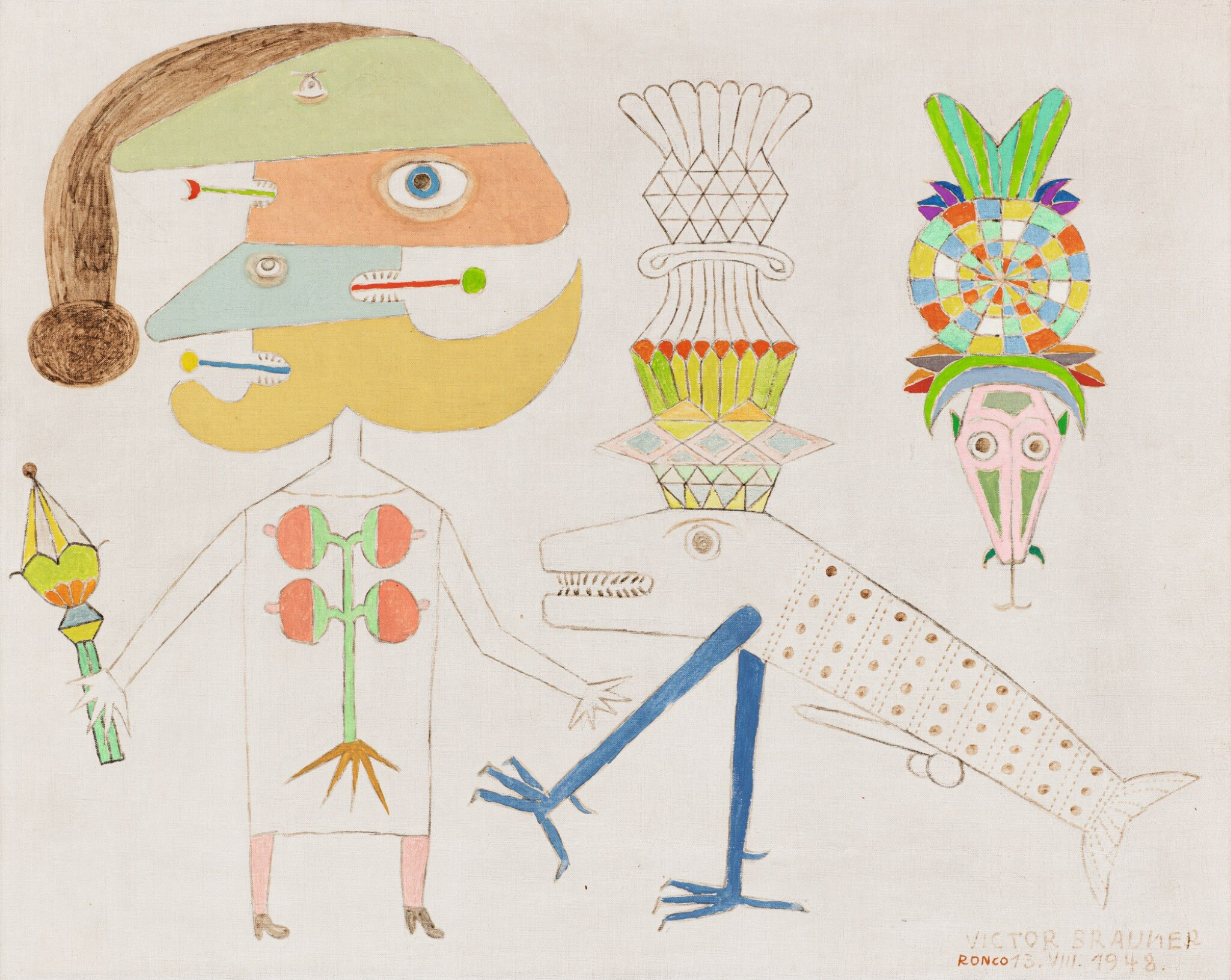 View full screen - View 1 of Lot 4. VICTOR BRAUNER | POISSON D'HONNEUR.