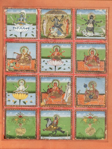 View 3. Thumbnail of Lot 35. RAJASTHAN, 19TH CENTURY | SEVEN INDIAN MINIATURES.