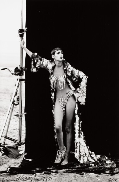 View 1. Thumbnail of Lot 121. PETER LINDBERGH   GISELLE FOR FRENCH VOGUE, DEAUVILLE 1991.