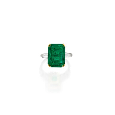 EMERALD AND DIAMOND RING, TIFFANY & CO. | 祖母綠配鑽石戒指,蒂芙尼