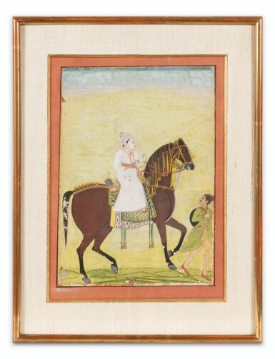 View 6. Thumbnail of Lot 34. INDIA, 19TH CENTURY | FOUR EQUESTRIAN PORTRAITS OF DIGNITARIES .