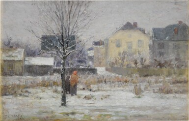 View 1. Thumbnail of Lot 122. A Winter Day.