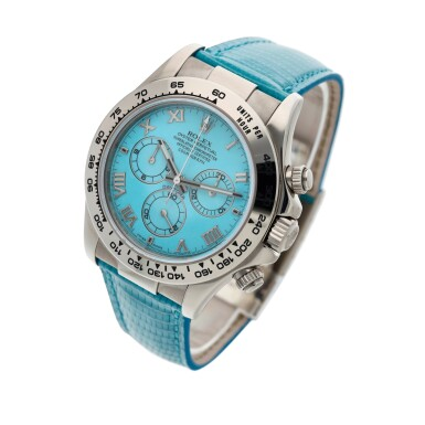 View 2. Thumbnail of Lot 211. Reference 116519 'Daytona Beach'  A white gold automatic chronograph wristwatch, Circa 2000.