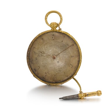 View 3. Thumbnail of Lot 289. SWISS | A GOLD AND ENAMEL ULTRA SLIM BAGNOLET WATCH, CIRCA 1850 NO. 24389.