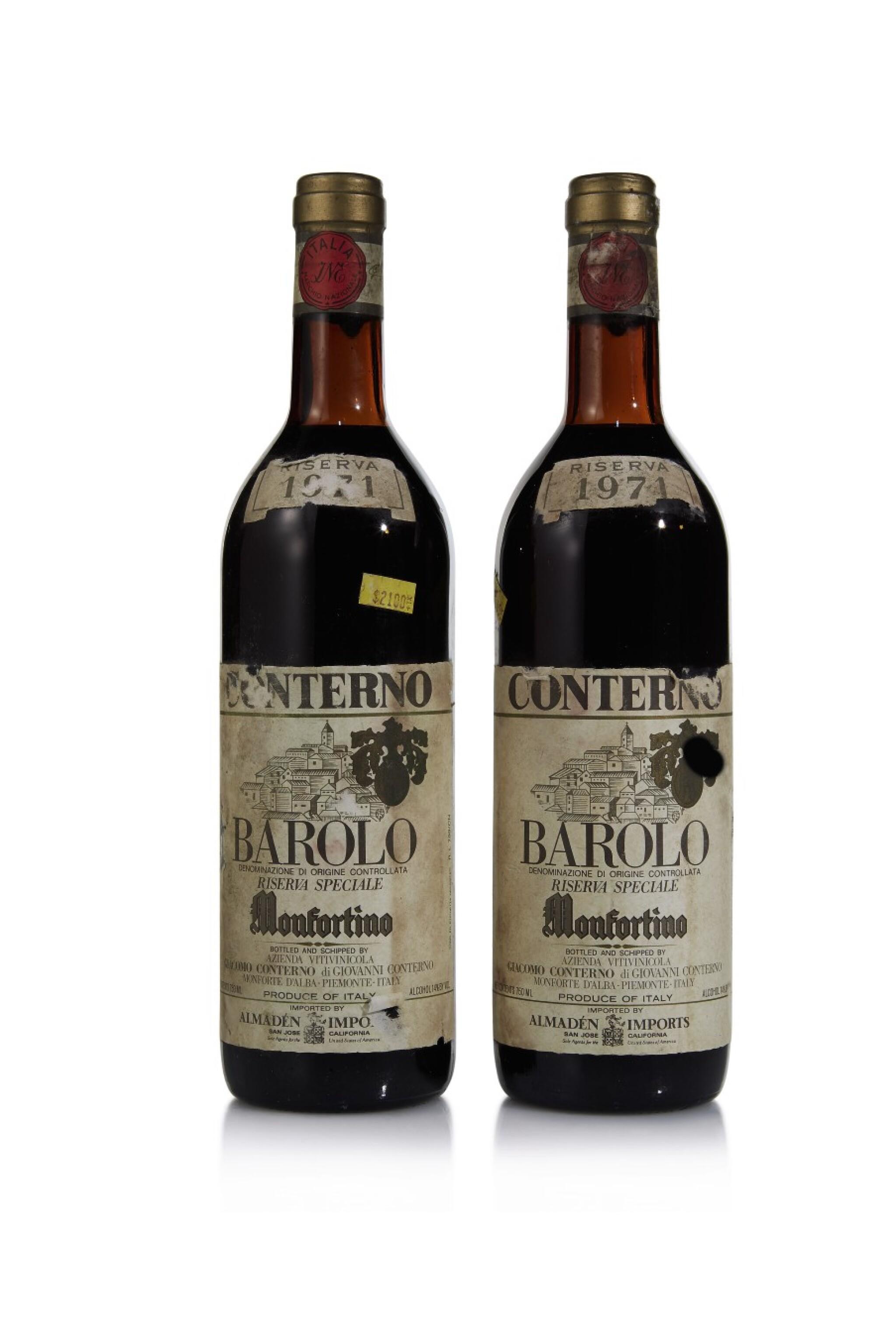 View full screen - View 1 of Lot 419. Barolo Riserva, Monfortino 1971 Giacomo Conterno (2 BT).
