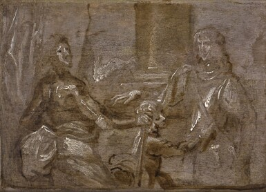 SIR ANTHONY VAN DYCK  | Sketch for the double portrait of Mountjoy Blount, 1st Earl of Newport (circa 1597–1666) and George, Lord Goring (1608–57)