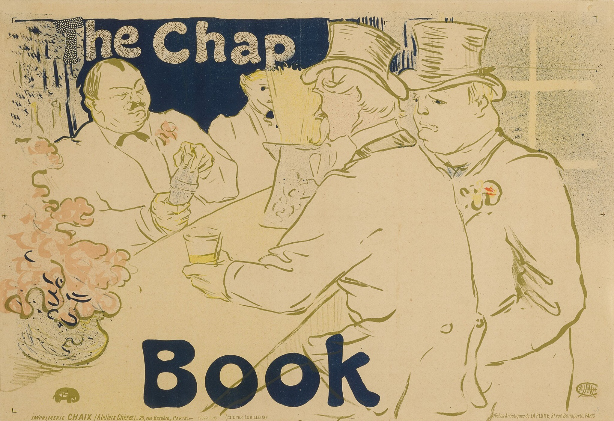 IRISH AND AMERICAN BAR, RUE ROYALE - THE CHAP BOOK (D. 362; ADR. 139; W. P18)