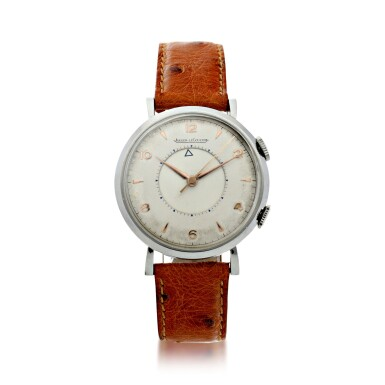 View 1. Thumbnail of Lot 240. MEMOVOX A STAINLESS STEEL ALARM WRISTWATCH, CIRCA 1960.