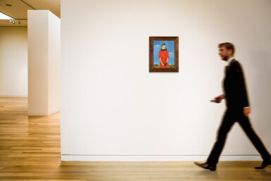 View 4. Thumbnail of Lot 110. Portrait of a Woman in Red.