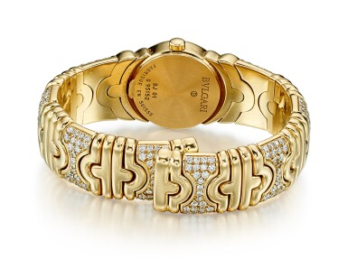 View 3. Thumbnail of Lot 9145. GOLD AND DIAMOND WRISTWATCH, 'PARENTESI', BULGARI | K金 配 鑽石 腕錶, 'Parentesi', 寶格麗﹙Bulgari ).