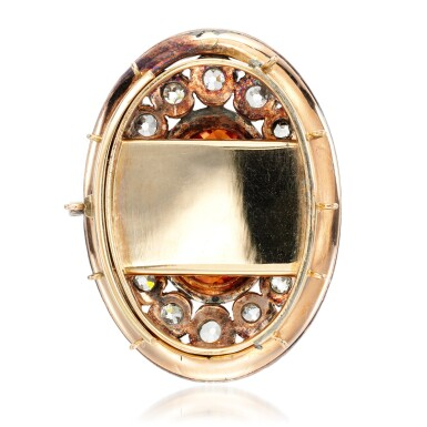 View 3. Thumbnail of Lot 1. Topaz and diamond clasp, 1820s.