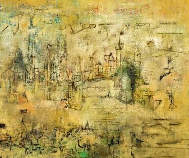 View 4. Thumbnail of Lot 1018. Zao Wou-Ki 趙無極 | Château - 07.52-05.06.55 莊園 07.52-05.06.55.