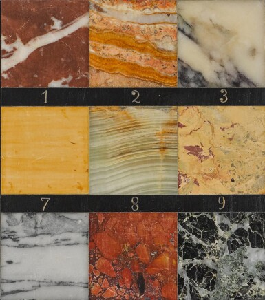 View 3. Thumbnail of Lot 96. A FRENCH MARBLE SAMPLE BOARD BY GUSTAVE ESCALLE & CIE, LATE 19TH CENTURY.