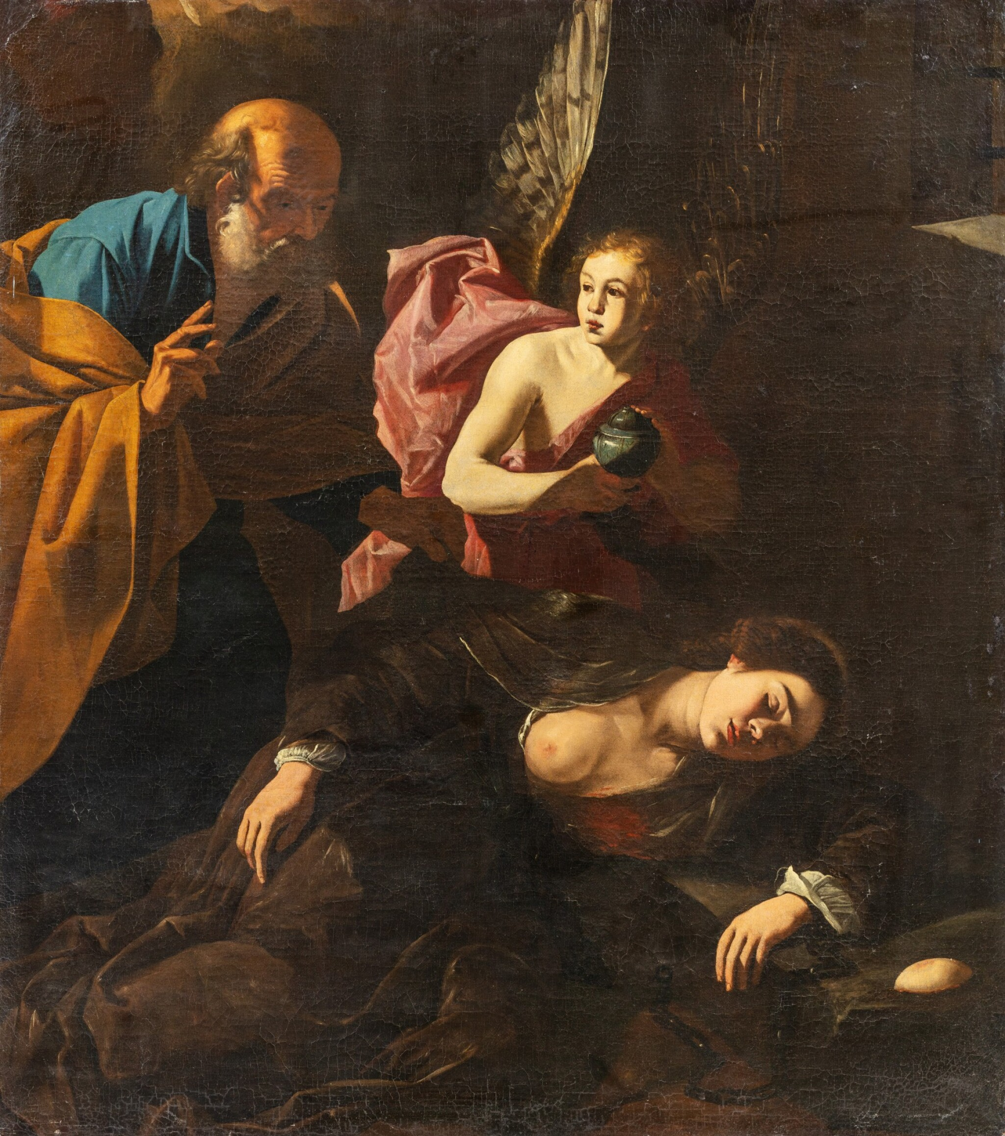 View full screen - View 1 of Lot 151. Saint Agatha visited by St Peter.
