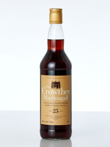 View 1. Thumbnail of Lot 7613. Macallan Crowther MacDougall 25 Year Old Cask #7821 48.1 abv 1984 (1 BT70).
