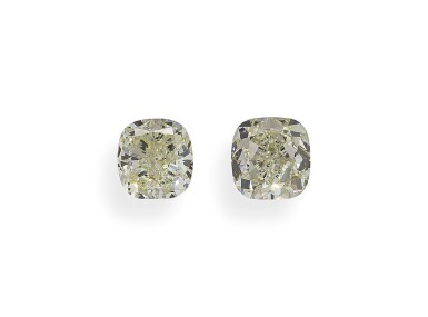 A Pair of 1.16 Carat Cushion-Cut Diamonds, U-V Color, VS2 Clarity