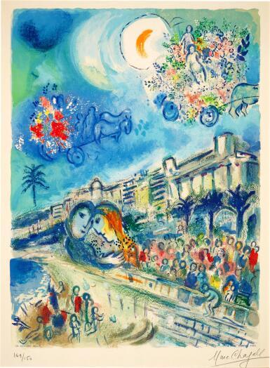 View 1. Thumbnail of Lot 16. AFTER MARC CHAGALL | BATAILLE DE FLEURS (M. CS. 33).