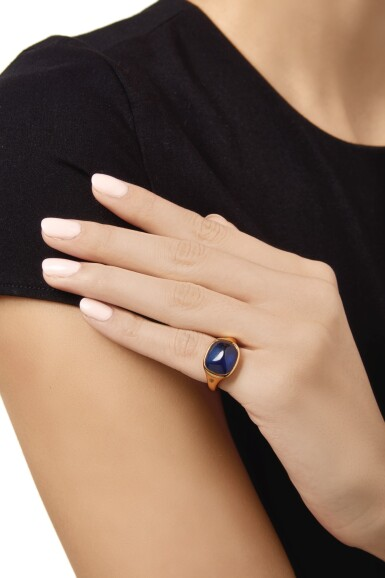 View 2. Thumbnail of Lot 174. SAPPHIRE RING, TIFFANY & CO..