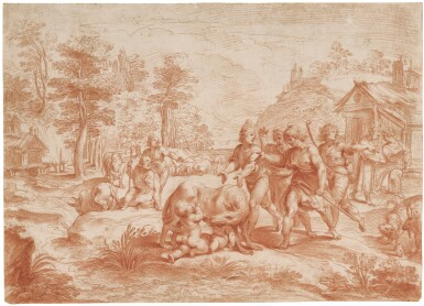GIUSEPPE CESARI, CALLED IL CAVALIER D'ARPINO | THE DISCOVERY OF ROMULUS AND REMUS