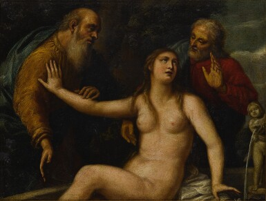 View 2. Thumbnail of Lot 41. Susanna and the Elders.