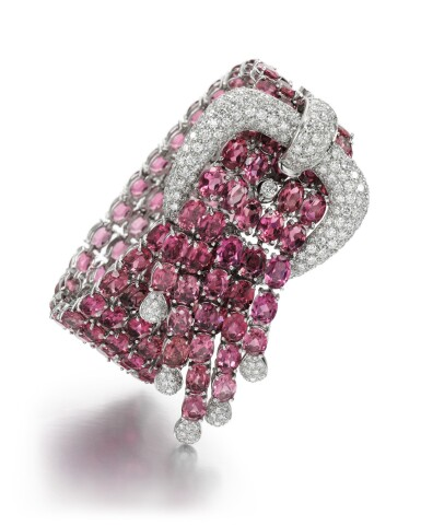 PINK TOURMALINE AND DIAMOND BRACELET, 'FANTASY', LEGNAZZI